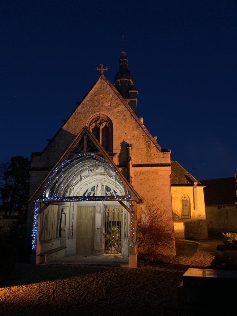 Eglise Thibivillers de nuit