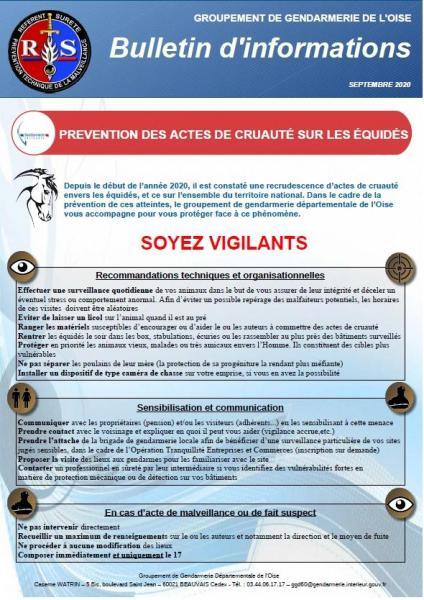 Prevention des actes de cruaute sur equides