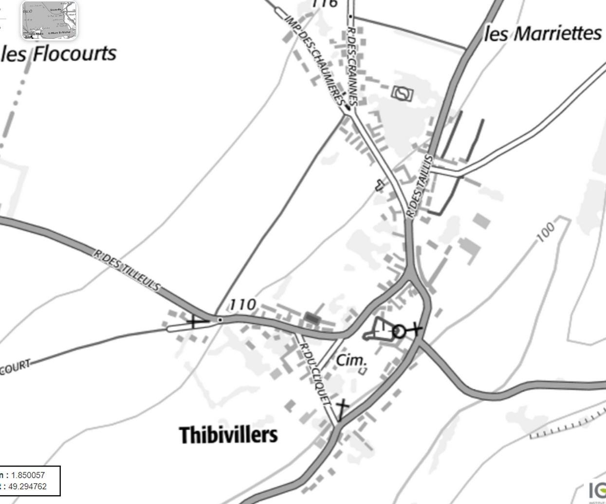 Thibivillers carte