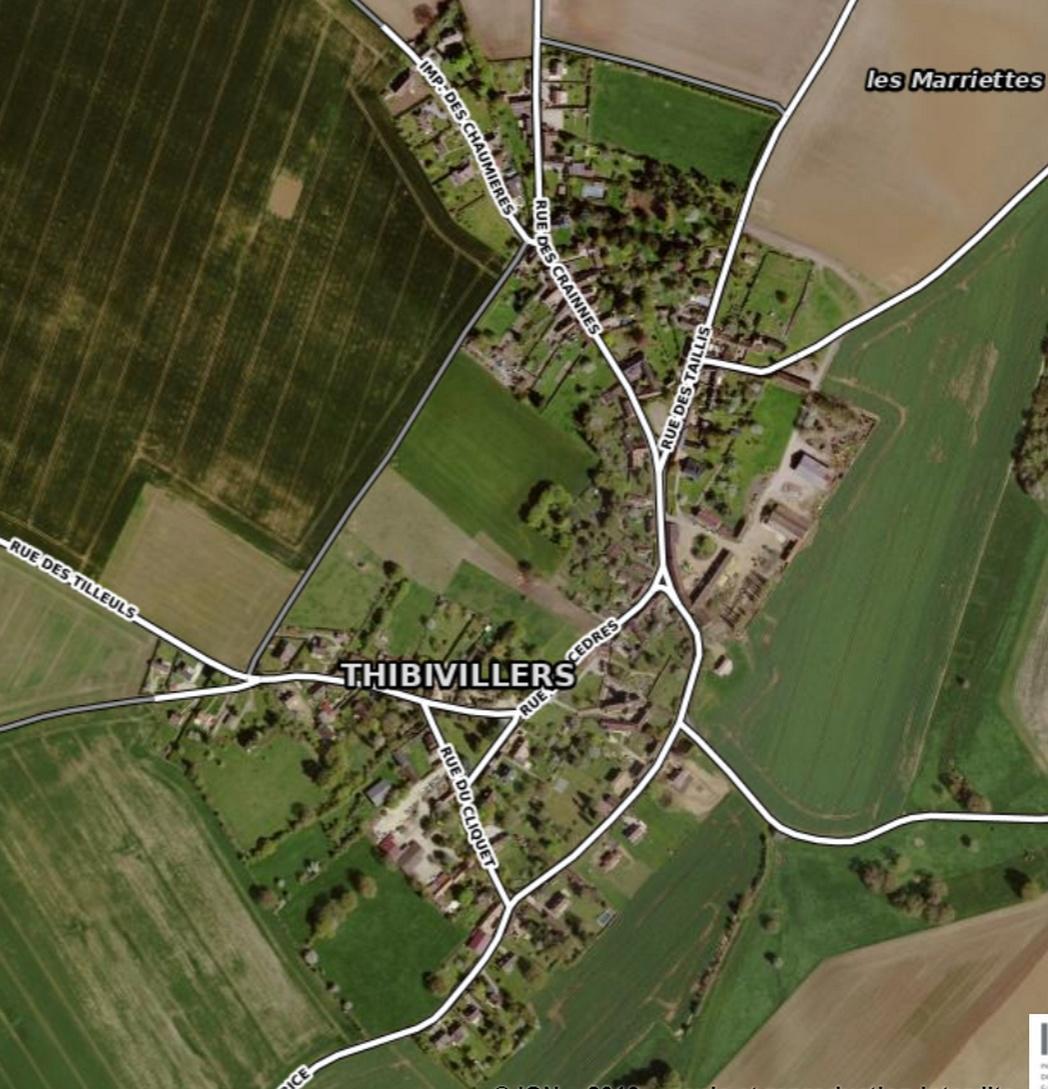 Thibivillers vue satellite